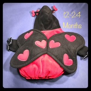 Old Navy Fleece Lady Bug Baby Costume 12-24m